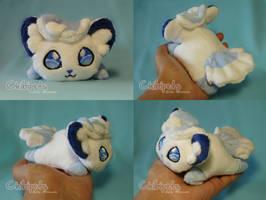 Alola Vulpix Custom Chibi Doll by Chibi-pets