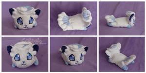 Alola  Vulpix Chibi Plush by Chibi-pets