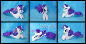 Rarity  ( SeaPony) Custom Plush by Chibi-pets
