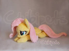 Fluttershy Laying Custom Plush by Chibi-pets