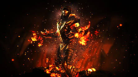 Mortal Kombat X - Scorpion (Injustice Outfit) by CyRaX-494