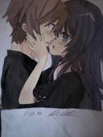 Anime Love (Coloured) by MonkeyDDante