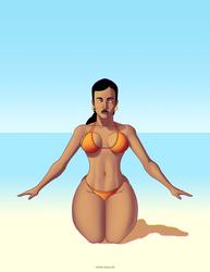 Mujer Playa by omar-aguilar