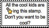 Become cool stamp by ZEGMAN