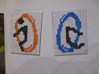 Portal Cross stitch Magents by DJChocolate-Lover