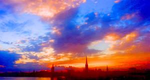 Stockholm Sunset by RicksCafe