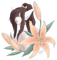 Obi and lilies by medli