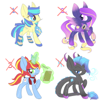 Pony auction - Closed by Sillohette-Adopts