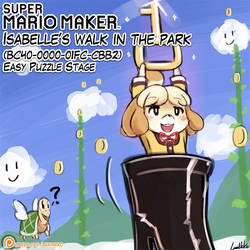 Super Mario Maker - Isabelle's walk in the park by luminaura