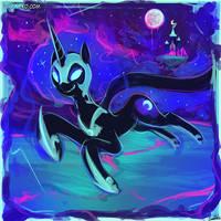 Speed Paint - Cute Nightmare Moon by luminaura