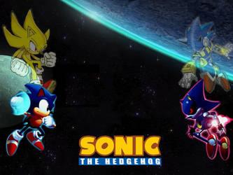 Sonic Vs Metal Sonic Wallpaper By Icekirbyixi On Deviantart