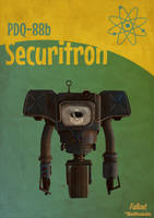 Fallout Securitron Poster by Pablokahuna