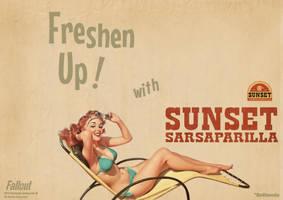 Sunset Sarsaparilla Poster by Pablokahuna