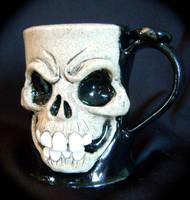 Skull Mug-complete by thebigduluth