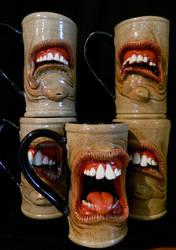 Gang of Dental Mugs by thebigduluth