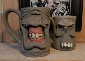 Happy Cyclops and Beast Skull Mug-WIP by thebigduluth