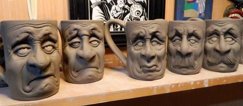 Face Mugs Group Photo=WIP by thebigduluth