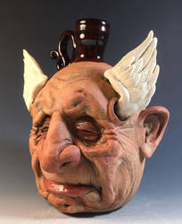 Old Man Dreaming he can Fly Jug- Complete by thebigduluth
