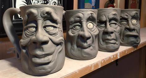 More Mugs on the Shelf-WIP by thebigduluth