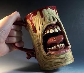 Diseased Zombie Beer Mug- FOR SALE by thebigduluth