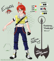 iAnti - Elgen Reference Sheet by Namakemono-chan