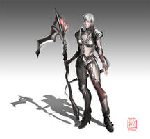 Human Female Knight Concept by conniebees