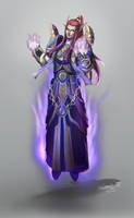 Blood Elf Spriest in T5 by conniebees