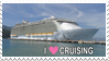 I Love Cruising stamp by Leeanix