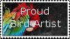 Proud bird artist stamp by Leeanix