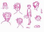 Minoru with short hair Sketch by TheLadyShenanigan
