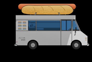 Hot Dog Van + Step by Step Drawing by LevinskTM