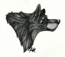 Black Wolf .:sketch:. by BlueSpiritWolf6
