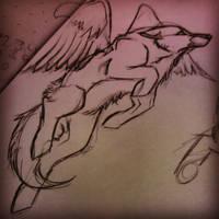 flying O.o by BlueSpiritWolf6