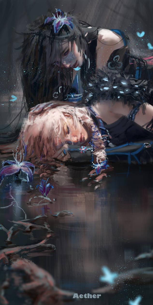 Deeper into Nisha's Labyrinth  by AetherFanart