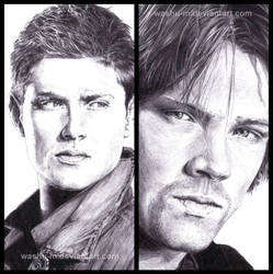 DEAN and SAM - Pen details - by Washu-M