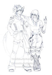 Yakatsu and Tsua - SKETCH by Washu-M