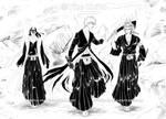 BLEACH - Byakuya Ichigo Renji by Washu-M
