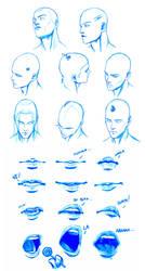 HEAD and MOUTH stuff by Washu-M
