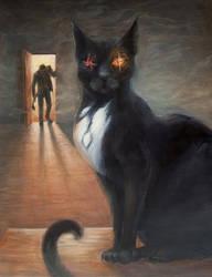 The Black Cat by JynetteTigner