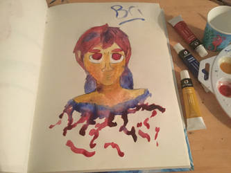 Watercolor girl by BriAnimations