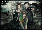 Katiya, Sachi, Yuriy - Happy Halloween by Dradra-Trici