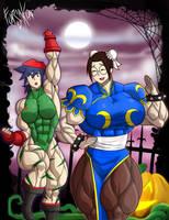 Gym Goers Halloween: Avenue Brawler by Forsa-kun