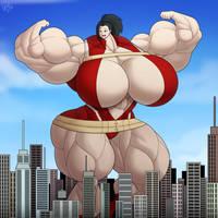 Commission - Momo Yaoyorozu the Giantess by Forsa-kun