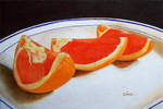 Ruby red grapefruit wedges by tropicart