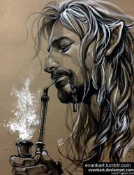 Fili's morning smoking by evankart