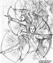 Archers of Mirkwood by evankart
