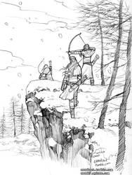 Winter hunting of Elves by evankart