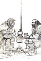 Thorin and Dwalin: Impossible dream by evankart