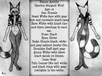 Ringtail Wolf Ref Sheet by XEmoRainbowEaterX