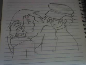 Sketch: Zetsubou and Matoi by RafagdGoku